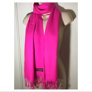 Accessories - 100% Cashmere Hot Pink Scarf